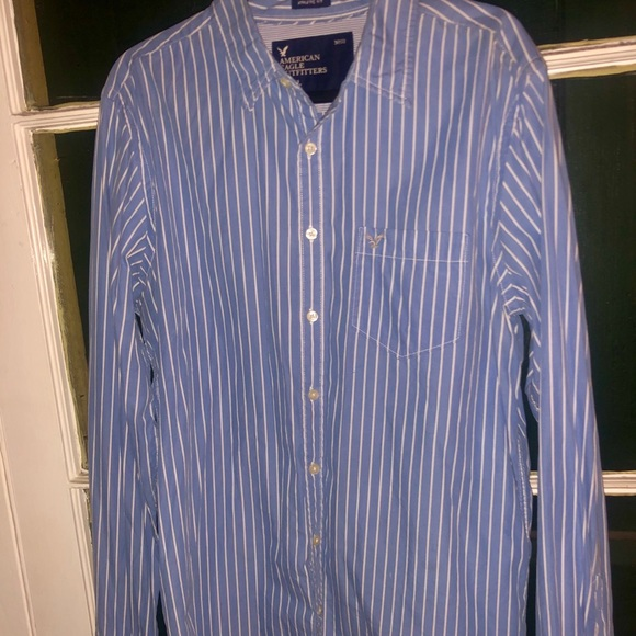 American Eagle Outfitters Other - American Eagle Long Sleeve Blue Stripe Shirt LT/GL